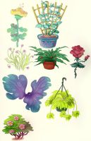 SOME PLANTS by Limelight-Night
