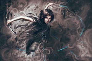 Vin (from the Mistborn trilogy) by intrepidati0n