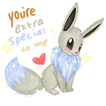 Shiny Eevee Valentine by Eevie-chu
