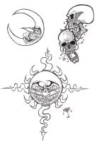 Tattoo Flash for a Friend. by Demongrinder
