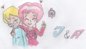 Code Lyoko Jeremy and Aelita by Lyoko32