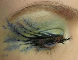 Makeup: Peacock Feather by PeacefulSeraph