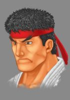 Ryu Portrait by Kukurobuki