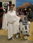 Leia and R2-D2 by kirys79