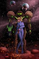 Samus better put that suit back on! by artofjared