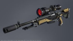 XCOM Sniper Rifle Concept by zombat