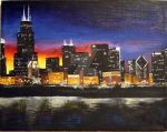 Chicago Skyline by Dhria