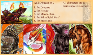 ACEO badge nr. 3 by Acayth