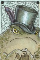 Fancy Hat ACEO by liselotte-eriksson