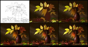 Leaves [Making of] by Azot2014