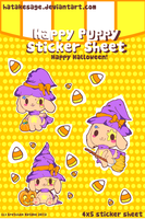 Happy Puppy Halloween - Sticker Sheets by Hatty-hime