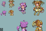 Moemon - Rattata Family by CMagister