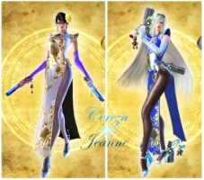 Bayonetta2  Jeannetta Chinese set by EvilMaybe