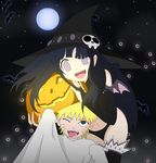 NaruHina: Happy Halloween 2012 by Darkkitty669