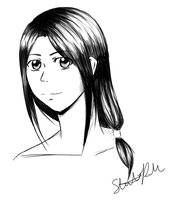 Black and White Digital Shading Practice by ChaosSoda