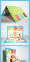 Pop-up Birthday Card by superMIM