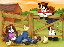 On the farm by cowgirlem