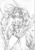 Wonder Woman by Iago Maia by Ed-Benes-Studio