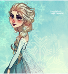 Frozen: the Snow Queen Elsa by FROZENVIOLINIST