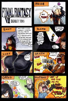 final fantasy vii deadly sins by EatToast
