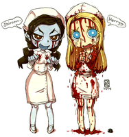 Chibi Risa and Lisa by sachsen