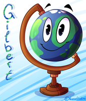 Gilbert the globe - dhmis - by VanessaGiratina