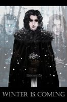 Winter is coming. Jon Snow by Satelka