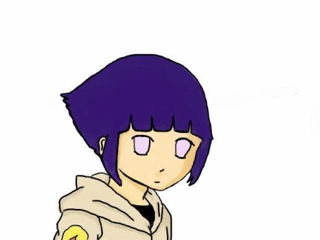 Hinata colored by Buttercupgal11