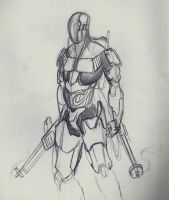 Sci-Fi Soldier thing by Cave-Shinobi