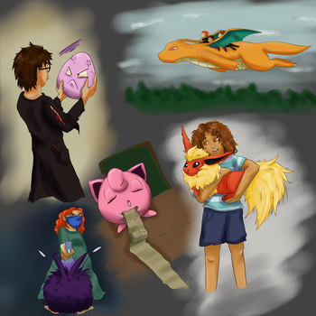 Harry Potter and the Pokemon by ptite-ane