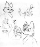Oldies-Miravid sketches by merrypaws