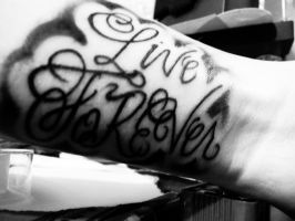 live foREVer tattoo by Sixxer36-Punk