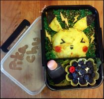 Pikachu Themed Bento by Squidneyz