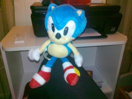 Sonikku Plushie I Got From My Friend!! x333 by SilverfanNumberONE