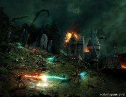 Battle of Hogwarts by rodolfoguerreiro