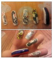 Hetalia Russia Nails by Smutppet