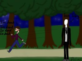 Toby and slenderman by DeLowl