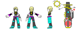 Elsword - Chung Random Costume Design Recolor by GameBoy224