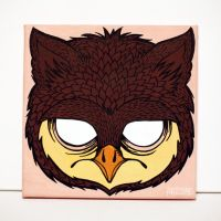 Owl canvas by artcoreillustrations