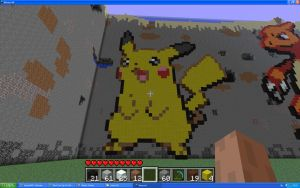 Pikachu On Minecraft by Miccopicco