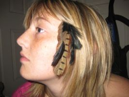 Native hair clip by wolffang56