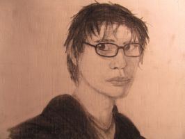 Charcoal Self Portrait by SorinCrecens