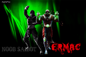 Noob and Ermac by IamSubZero