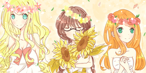 Flower Girls + Speed Paint + by bun-mi