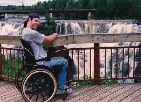 Me by Kakabeka Falls by marcgosselin