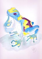 Poison Dart Frog in Thought by innerpeace1979