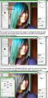 GIMP How to change hair color by Rhea-Pendragon