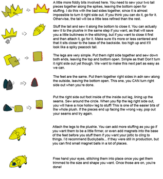 Joltic Plushie Tutorial 3 of 3 by Aemi