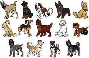 Glee Dogs :: Chibi Icons by srspibble