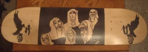 Hollywood Undead Skate Board by Buhla